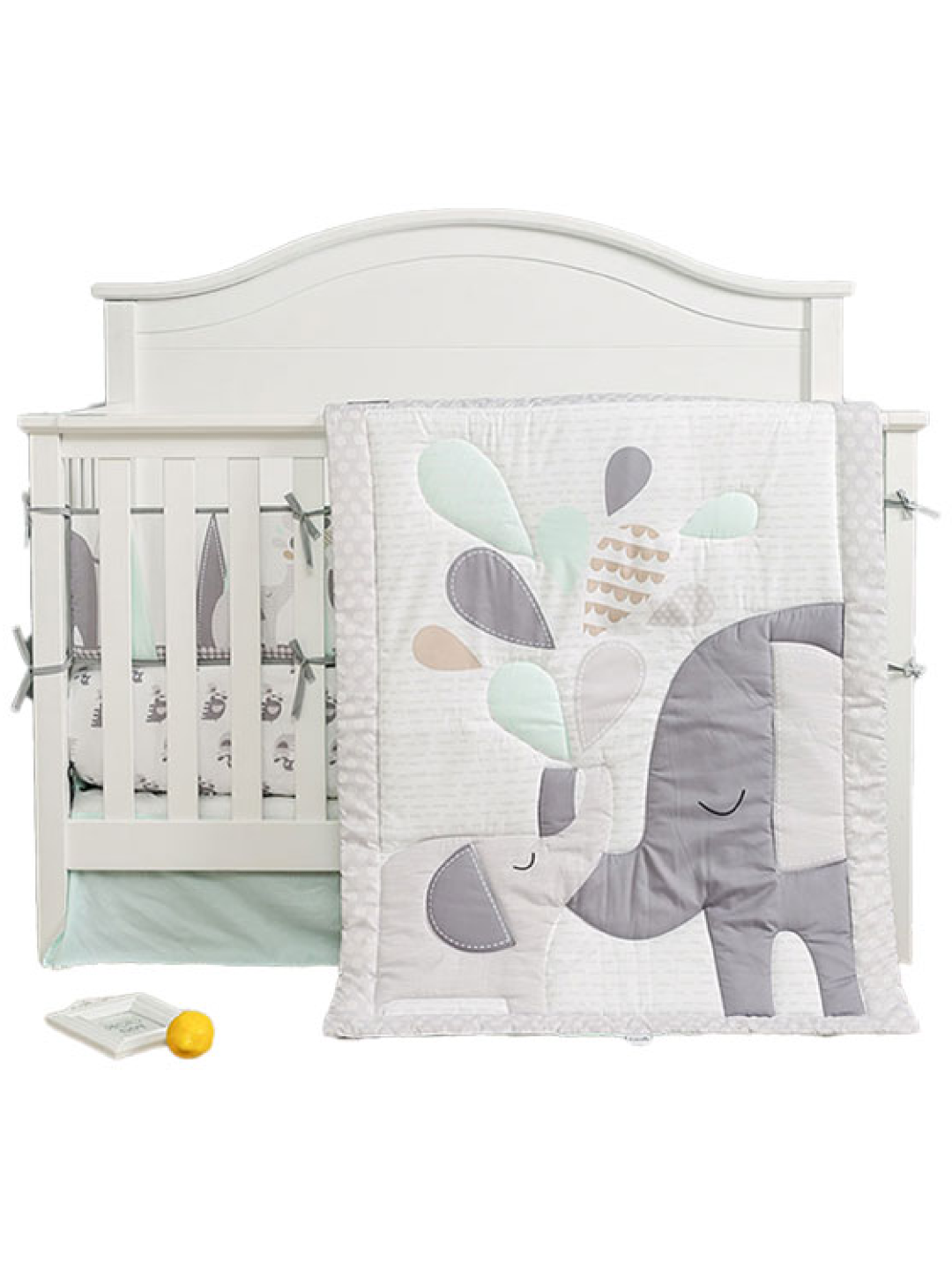 Elephant Love Crib Bedding Set