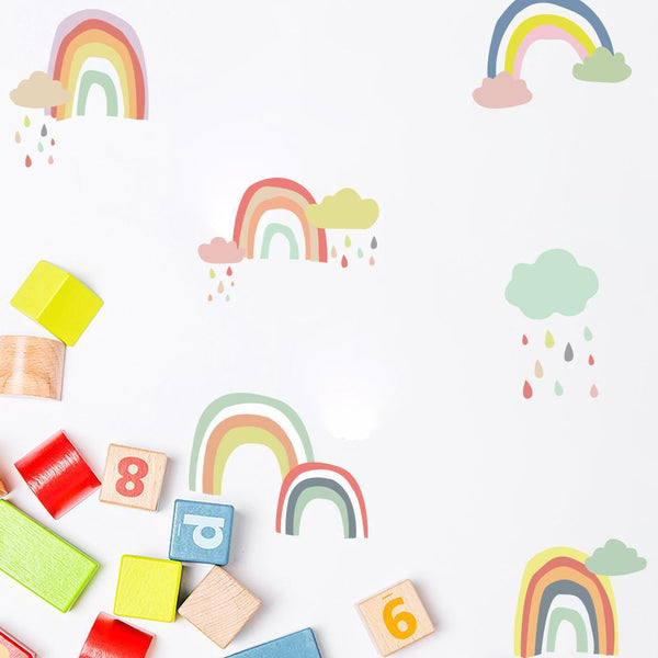 Wall Decals Nursery Stickers - Colorful Rainbows