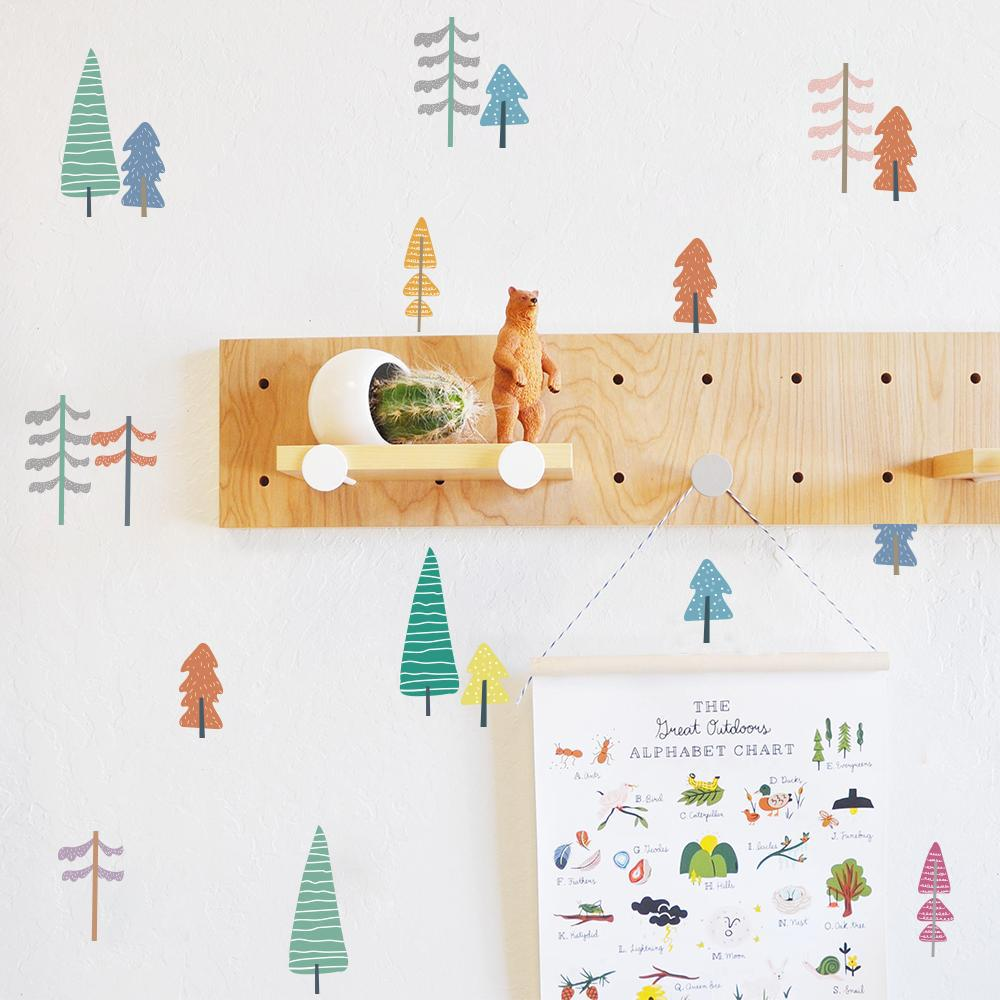 Wall Decals Nursery Stickers - Colorful Trees