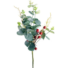 Load image into Gallery viewer, Red Berry & Eucalyptus Sprig
