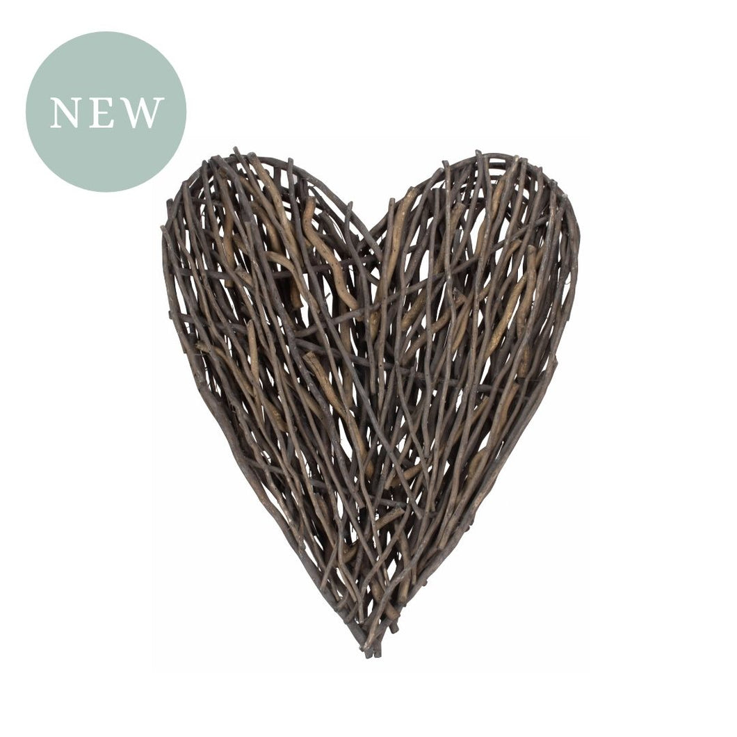 Large Rustic Willow Heart Décor