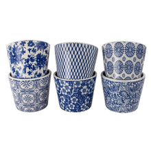 Load image into Gallery viewer, Terracotta Vintage Blue Pots