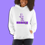 "Purple ""Life of the Party"" White Hanes Cotton Hoodie"