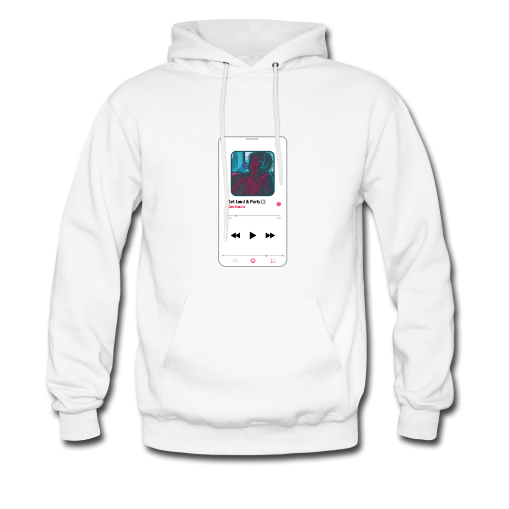 """Get Loud & Party"" Song Hoodie - white"