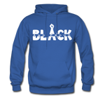 Black and Proud BLM Hanes Cotton Hoodie - royal blue