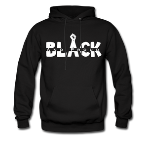 Black and Proud BLM Hanes Cotton Hoodie - black