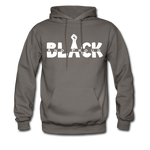 Black and Proud BLM Hanes Cotton Hoodie - asphalt gray