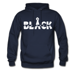 Black and Proud BLM Hanes Cotton Hoodie - navy
