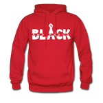 Black and Proud BLM Hanes Cotton Hoodie - red