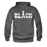 Black and Proud BLM Hanes Cotton Hoodie - charcoal gray