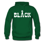 Black and Proud BLM Hanes Cotton Hoodie - forest green
