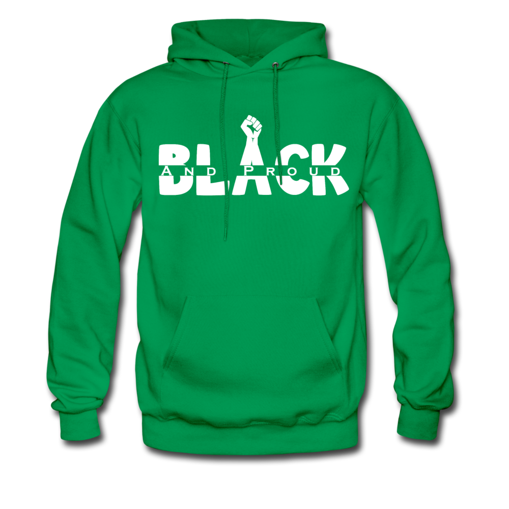 Black and Proud BLM Hanes Cotton Hoodie - kelly green