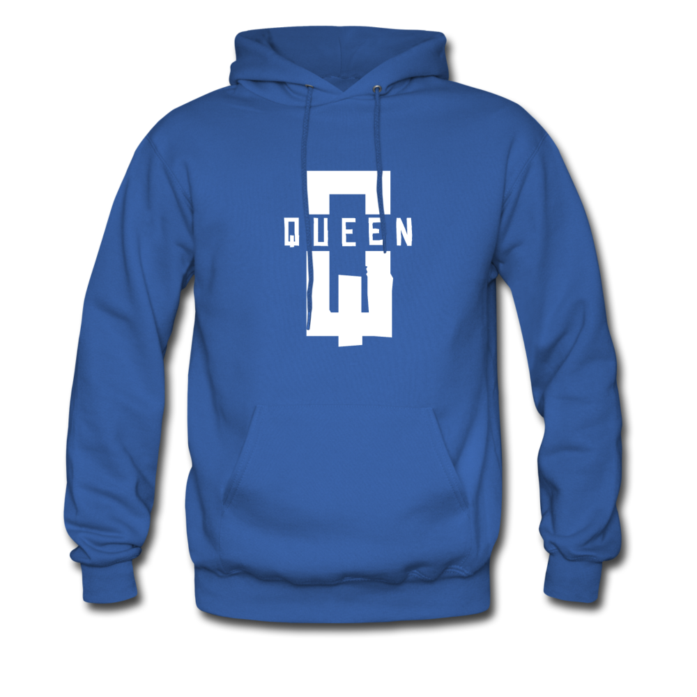 """King ""Couples Hanes Cotton Hoodie - royal blue"