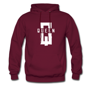 """King ""Couples Hanes Cotton Hoodie - burgundy"