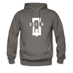 """King ""Couples Hanes Cotton Hoodie - asphalt gray"