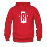 """King ""Couples Hanes Cotton Hoodie - red"