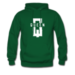 """King ""Couples Hanes Cotton Hoodie - forest green"