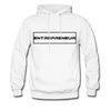 """Entrepreneur"" Black Text Motivational Hanes Cotton Hoodie - white"