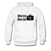 """Boss Babe"" Motivational Hanes Cotton Hoodie - white"