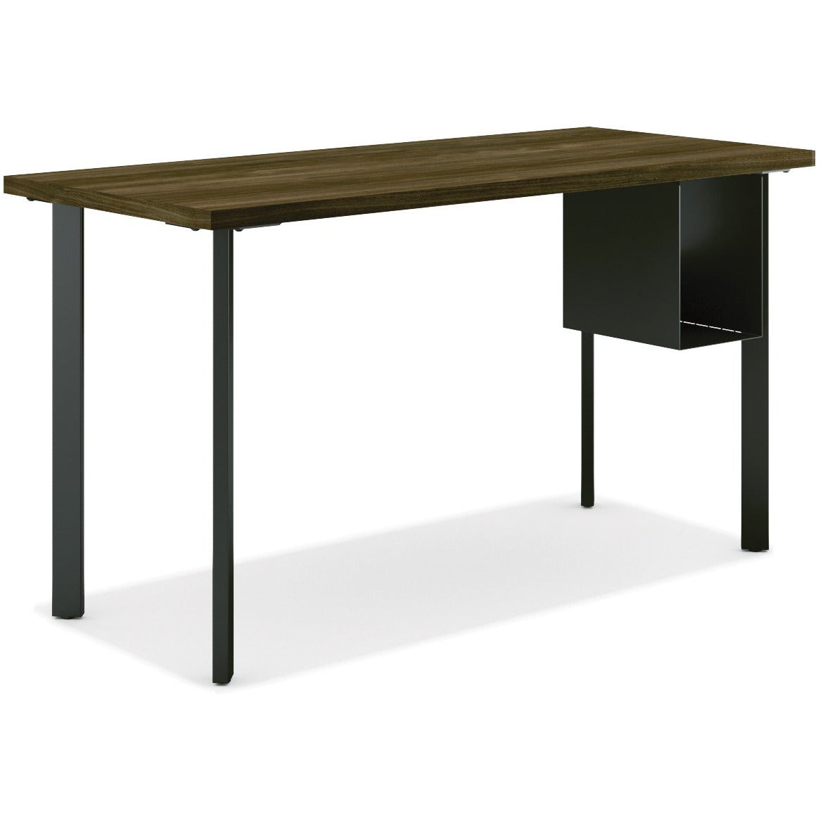 Coze Table Desk with Post Legs and U-Storage