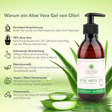 Lade das Bild in den Galerie-Viewer, Olori Aloe Vera Gel Bio 98%