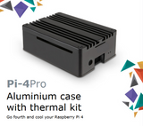 Akasa Pi-4 Pro|Beautifully Crafted|Aluminium Case|Thermal Kit with Heatsink Top Cover Cools and Protects Raspberry Pi 4|Full I/O Opening Support|A-RA08-M2B