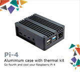 Akasa Pi-4|Aluminium Case with Thermal Kit|Go Fourth and Cool Your Raspberry Pi 4|A-RA08-M1B