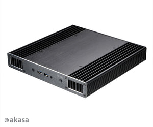 Akasa Plato X8 Slim Fanless Case for Intel 8th Generation NUC (Bean Canyon) | Heat-Sink Case | Cooling Case | Mini PC Case|A-NUC43-M1B
