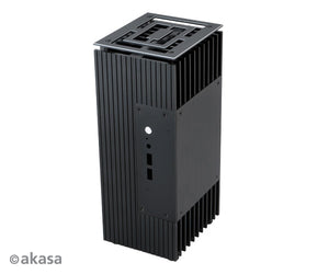 Akasa Turing Compact Fanless Case for Intel® 8th Generation NUC (Bean Canyon) |Contemporary Design | Fanless Cooling Case  A-NUC45-M1B