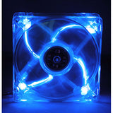 Blue LED Fan,Sleeve Bearing,92MM,3 Pins/4Pins,BLD-09025S1M