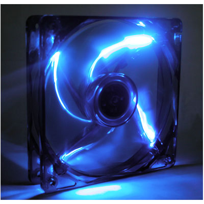 120MM Blue LED Case Fan,Ball Bearing,3Pins/4Pins,Blue Blade,BLD-12025V1