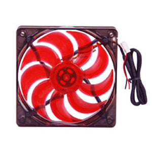 120MM Case Fan,Ball Bearing,3Pins/4Pins,Red Blade,BLD-12025V1R