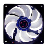 120MM Case Fan,Long Life Bearing,3Pins/4Pins,Blue Blade,FDVB12025L1L34