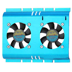 Hard Disk Cooler,Sleeve Bearing,Double Fan,Blue,FHD-4B02S4