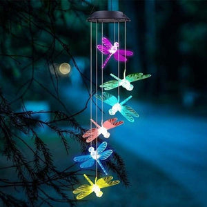 Solar Powered LED Wind Chime