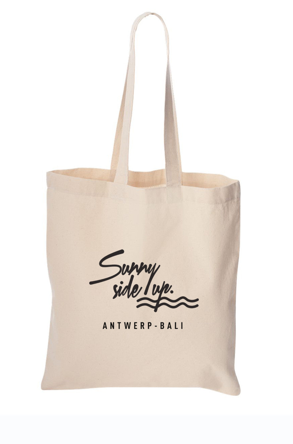 The Original Sunny Side Up Tote Bag100% organic cottonPart of the money will be donated to B.A.R.C Bali (Dog) Adoption & Rehabilitation Centre. Help us Help Them.