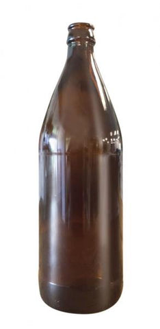 Beer Bottle - Amber 750ml Glass. ctn 12