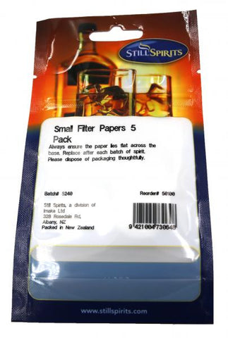 Still Spirits Small Filter Papers. 5 Pack