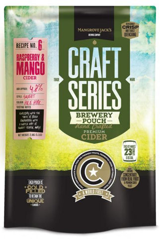 Mangrove Jack's CS Raspberry and Mango Cider - 2.4kg