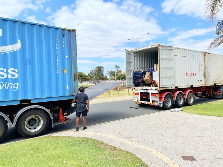 ISWG online store container arrival | Perth Home Renovator