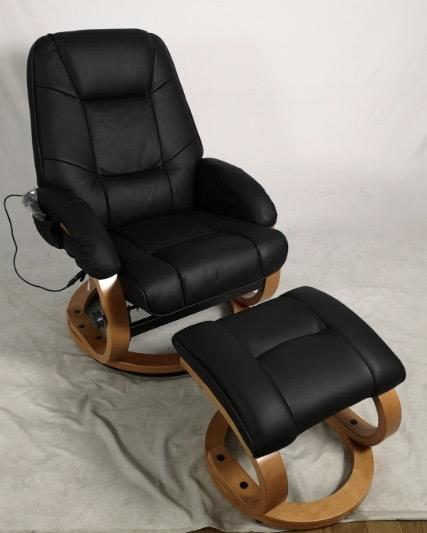 Leather Chair with Stool & Massage Function - Perth Home Renovator