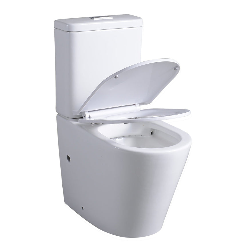 Premium Toilet Set - Rimless, Nano Glaze - Perth Home Renovator