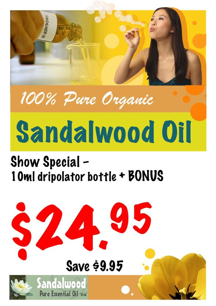 Pure 100% Sandalwood Oil 10ml drip bottle - Perth Home Renovator