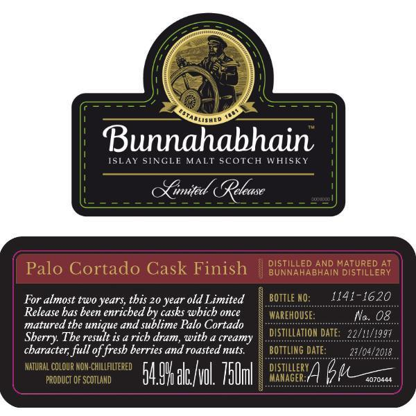 Buy Bunnahabhain Palo Cortado Cask Finish online from the best online liquor store in the USA.