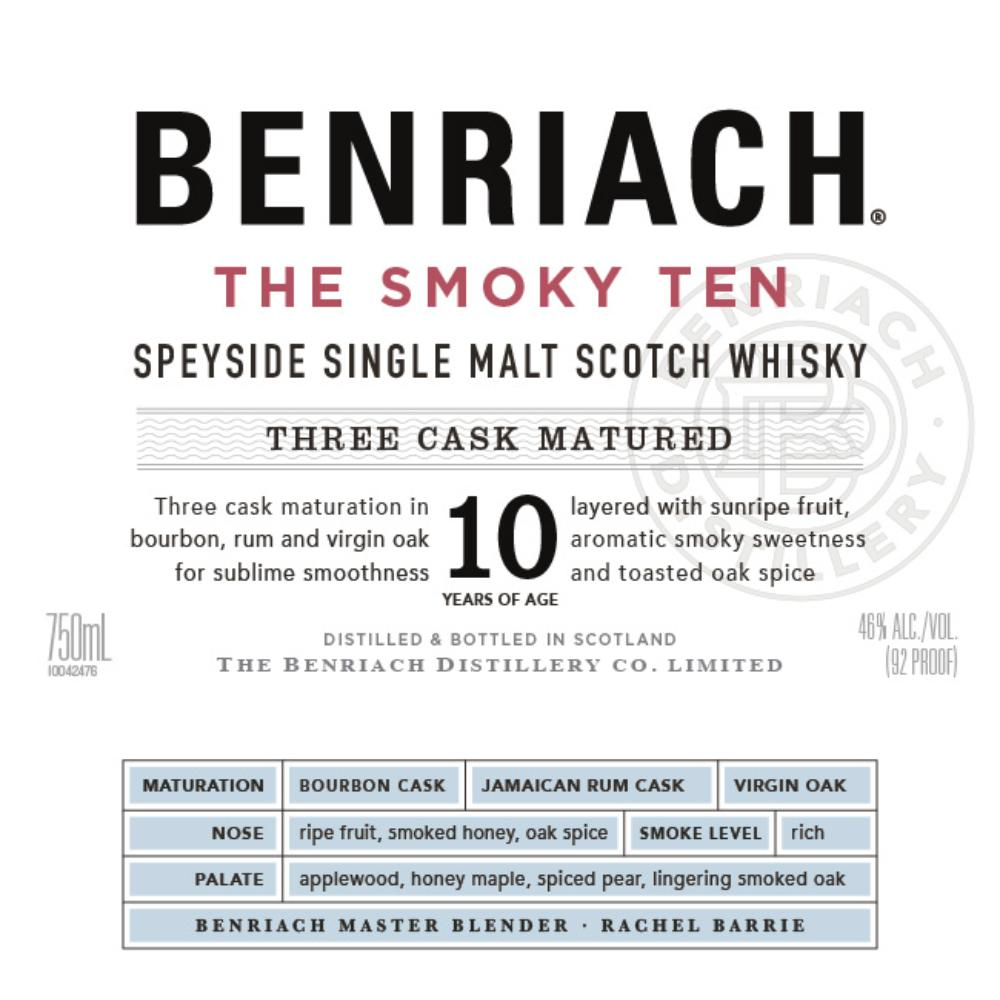 BenRiach The Smoky Ten Scotch BenRiach