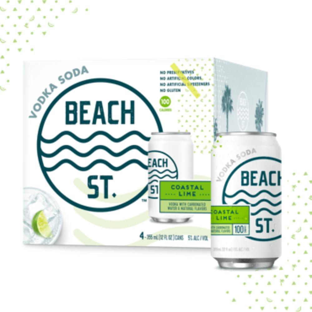 Buy BEACH ST. Vodka Soda Coastal Lime online from the best online liquor store in the USA.