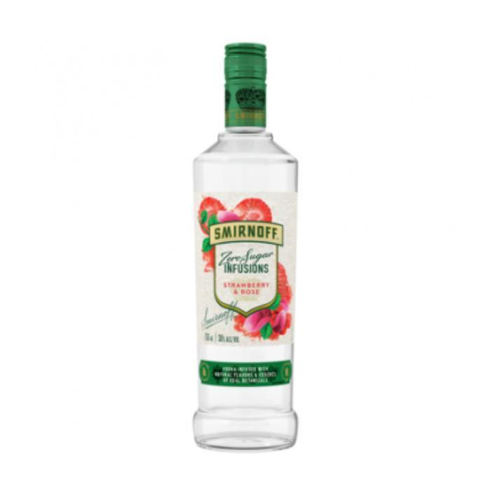 Buy Smirnoff Zero Sugar Infusions Strawberry and Rose online from the best online liquor store in the USA.