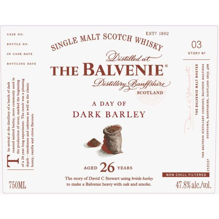 Buy The Balvenie A Day Of Dark Barley 26 Year Old online from the best online liquor store in the USA.