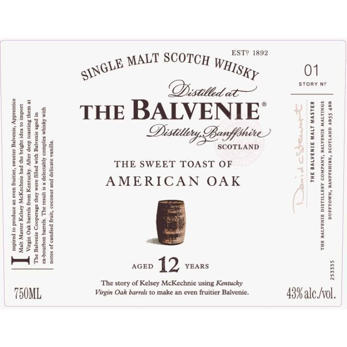 Buy The Balvenie The Sweet Toast Of American Oak 12 Year Old online from the best online liquor store in the USA.