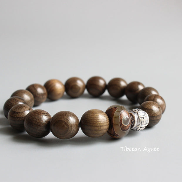 Six True Words Wooden Wrist Mala